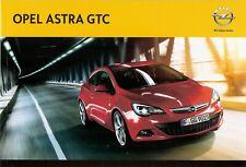 Prospekt / Brochure Opel Astra GTC 12/2013 mit Preisliste