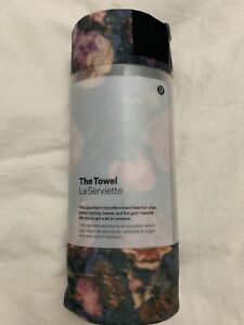 Lululemon The Towel NWT (Large) FRMI Frosted Rose Multi Color Yoga Cycling