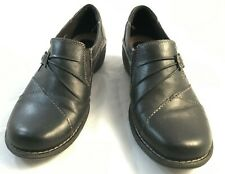 Earth Origins by Earth Gates Womens Size 9.5 M Black Leather Slip On Casual Shoe