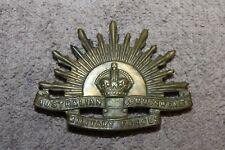 Original WW2 Australian Commonwealth Military Forces Metal Visor Cap Badge