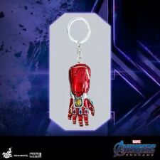 Authentic Hot Toys Avengers End game Iron man's Nano GAUNTLET key chain keyring