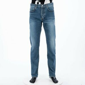 DIOR x SHAWN STUSSY 1200$ 19.5cm Jeans With Shawn Signature Bee Embroidery