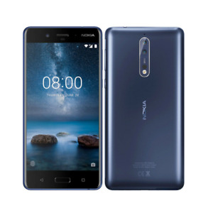 "Original Nokia 8 Single/Dual SIM Android 4G LTE 4GB RAM 64GB ROM Phone 13MP 5.3"""