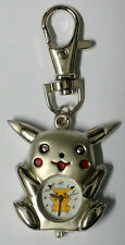 Nintendo Pikachu Pokemon Silver Figure Children Kids Boys Keyring Watch Keychain