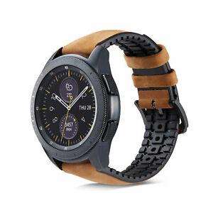 Genuine Leather Bracelet Strap Wrist Band For Samsung Galaxy Watch 46/42mm 20MM