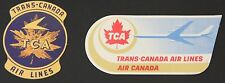 VINTAGE 1960's TRANS CANADA AIRLINES BAGGAGE LABELS