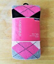 Girls Clothes Cotton Pink Argyle/Diamond Tights Size 7-10 Xhilaration