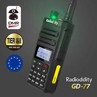 ES Radioddity GD-77 + Cable V/UHF DMR 1024CH Digital Radio Emisora Walkie Talkie