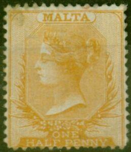 Malta 1870 1/2d Dull Orange SG7 Ave Mtd Mint