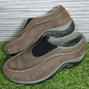 Mens Merrell Jungle Moc Welt Anthracite Slip On Walking Shoes Size UK 8 - EUR 42