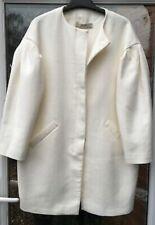 Zara CRUDO bata blanca con mangas Completa Tamaño L UK 14 BNWT