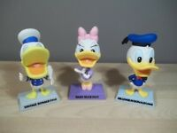 LOT OF 3 DISNEY TREASURES FIGURINES VINTAGE AND MILLENNIUM DONALD + DAISY DUCK