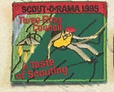 1995 Three Fires Council Scout-o-rama a taste of scouting patch 3 X 3-1/4 #2566