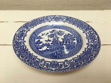 Staffordshire Vintage Ironstone Side Plate - Blue and White