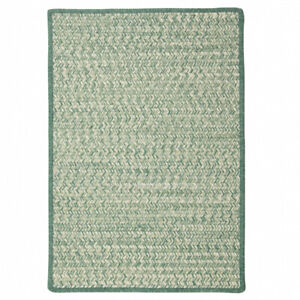 Hayley Tweed Green Natural Cross Sewn Country Farmhouse Braided Area Rug
