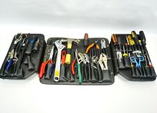 Lot of 43 Workshop Equipment Tools Leather Holder Wrench Electrical Screwdriver