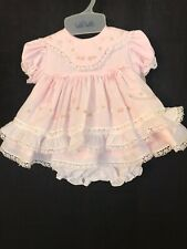 NWT Gorgeous Will'Beth  Heirloom Dress Pink And White Size 6Month