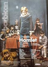 NATIONAL THEATRE'S HAMLET POSTER FROM THE BARBICAN STARRING BENEDICT CUMBERBATCH