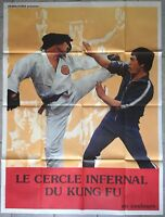 Plakat Le Circle Infernal Du Kung Fu Martial Arts Karate 120x160cm