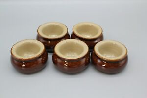 6 Pearsons of Chesterfield stoneware butter pat dishes