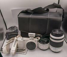 Samsung NX1000 20.3mp Digital Camera w/ 20-50mm, 50-200mm Lens, & Case Kit