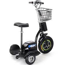 Moto Tec Electric Scooter Power 500 Watt 3 Wheeler Trike Mobility Basket 48v