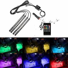 Car RGB LED Strip Light 12V 4pcs 36 SMD Sound Active Music Control Lighting Kit