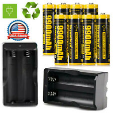 8* 18650 Battery 3.7V Li-ion lithium Rechargeable Batteries & Smart Chargers US