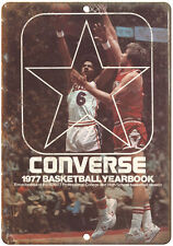 """1977 Converse Basketball Yearbook RARE 10"""" x 7"""" Reproduction Metal Sign"""