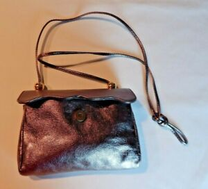 Vintage Furla Leather Purse Gold Magnetic Flap Closure  Made in Italy   Preowned