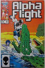 Alpha Flight #41 (Dec 1986, Marvel) 1st Appearance of Purple Girl (C2484)