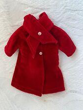 VINTAGE Barbie sister SKIPPER Pepper Clothes CLONE Vestito Cappotto di velluto rosso
