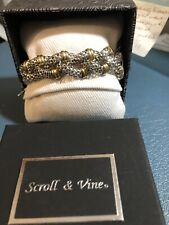 Silver W/ Gold Braided Bracelet 7-7 1/2""
