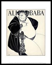 Aubrey Beardsley Ali Baba poster immagine stampa d'arte nel quadro in alluminio nero 36x28cm