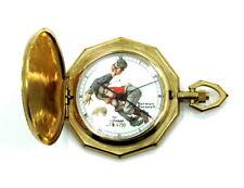 Vintage Waltham Norman Rockwell Football Tackle 4278/4750 Quartz Pocket Watch
