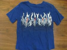 Sonoma Boys' Blue Surfboard Shirt Flames Size 4