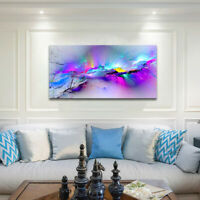 Canvas Print  Wall Art HD Quality Picture blue watercolour abstract Oil Painting