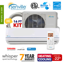 9000 BTU Ductless Mini Split Air Conditioner and Heat Pump - 25 SEER Energy Star