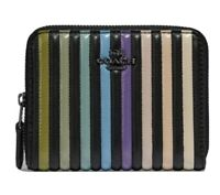 BRAND NEW 🌴COACH BLACK OMBRE QUILTING LEATHER SMALL ZIP AROUND WALLET #67120