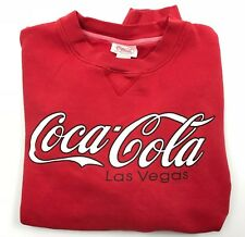Vintage 90s Coca Cola Spell Out Sweatshirt Mens L Red Coke Las Vegas Pullover