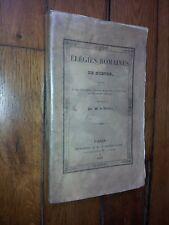 ELEGIES ROMAINES - GOETHE - CIVILISATION ANTIQUE, ART, POETES, POESIES, POEMES