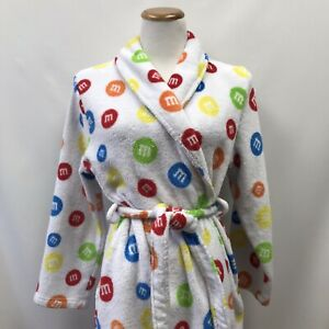 M And M World Youth Size M Robe White Red Yellow Green Blue Pockets