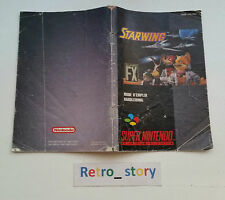 Super Nintendo SNES Starwing Notice / Instruction Manual