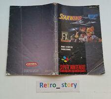 Super Nintendo SNES Starwing Notice / Instruction Manual