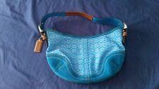 Royal Blue Crescent Shape Coach Purse Handbag