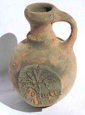 Biblical Ancient Terracotta Holy Land Pottery Jug Clay Ancient Coin Jewish Roman