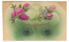 1908 embossed Easter postcard- Chick Riding in an Egg
