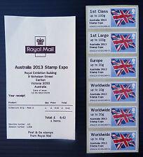 GB Post & Go Flag Australia 2013 Expo Local Issue & Receipt NEW SALE PRICE