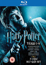 Harry Potter: Years 1-6 (Blu-ray Disc, 2009, 7-Disc Set) New Factory Sealed