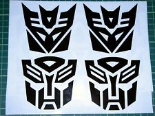 Transformers 2x Autobots 2x Decepticons Sticker Decal